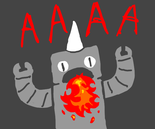 FIRE BREATHING ROBOT UNICORN