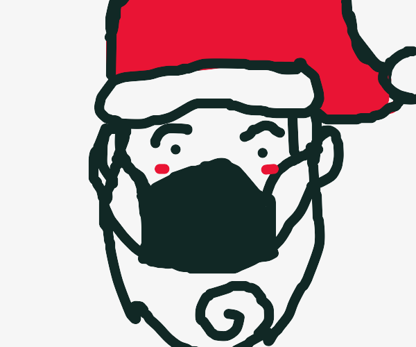 Santa with a mask