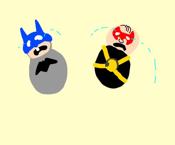 Batman and Robin as babies