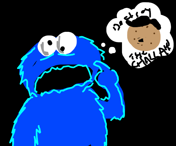 Cookie monster thinks of nazi themed cookie