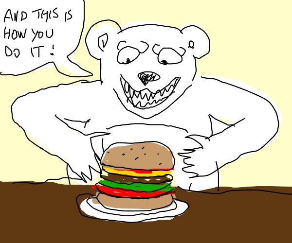 Let the Bear teach you how to eat
