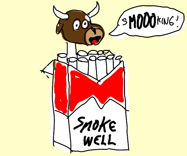 cow in smoking