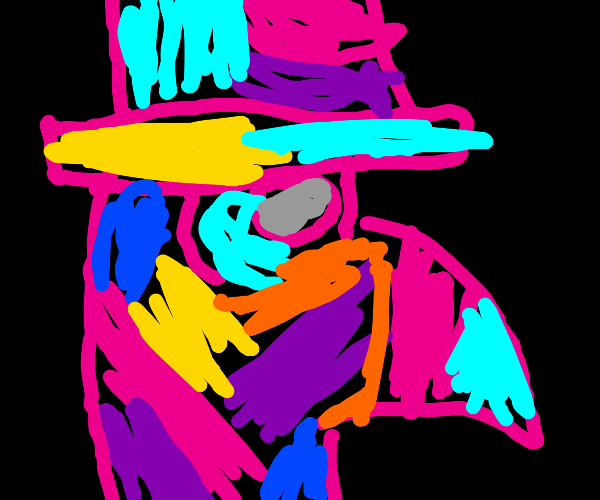 A colorful plague doctor