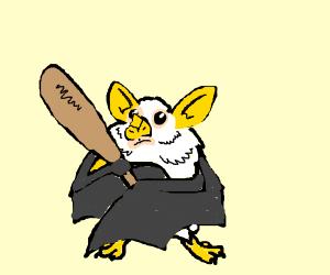 A Cute Bat Animal With A Baseball Bat Drawception