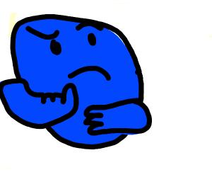 thinking blueberry
