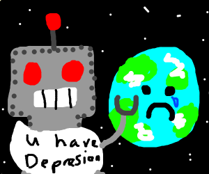 Robot diagnoses earth with depression