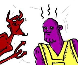 devil thinks thanos smells gross