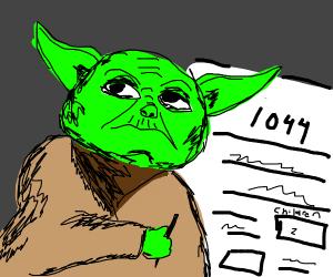 Yoda commits tax fraud