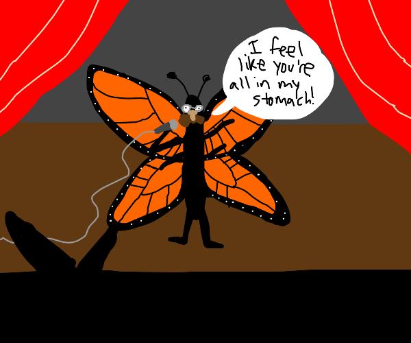 Wacky orange butterfly