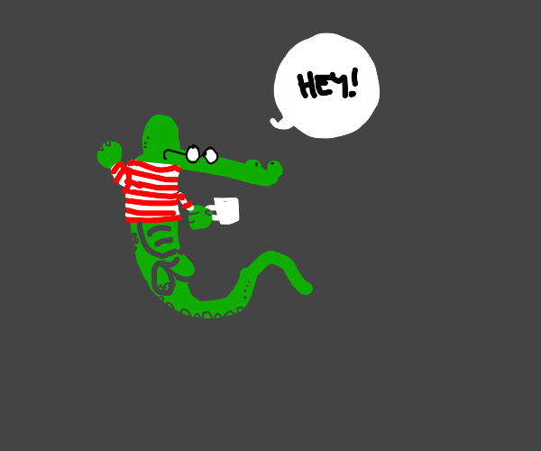 Alligator Waldo not trying to hide at all