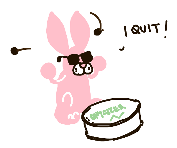 Energizer bunny quits