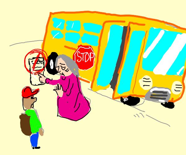 kid did not bring permission slip for trip