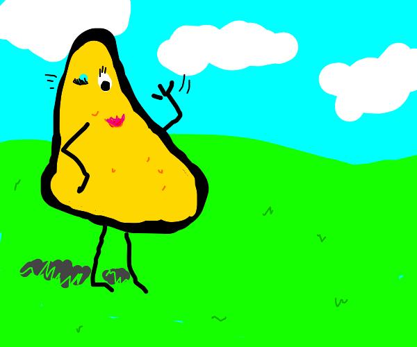 Flirty tortilla chip