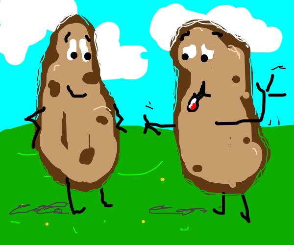 Two friendly potatoes