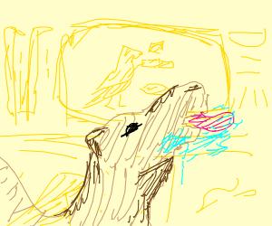 camel licks hieroglyphs