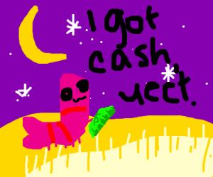 Shrimp has cash. Yeet