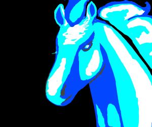 spectral blue horse