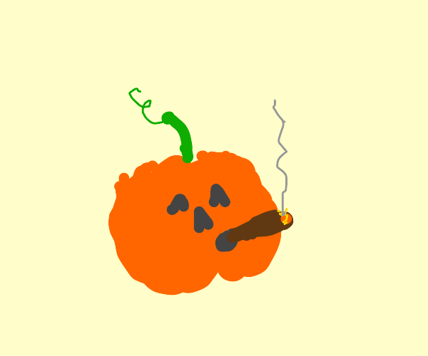 Jack o'lantern smokes