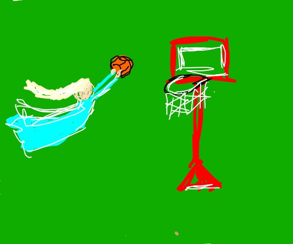 elsa slam dunking