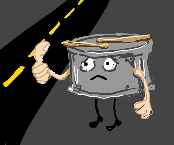 Sad Snare Drum Hitch hiking