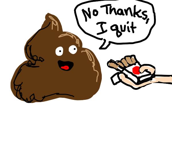 poop says don't smoke