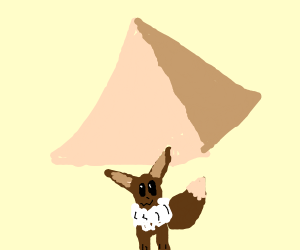 evee as an egyptian pharoah