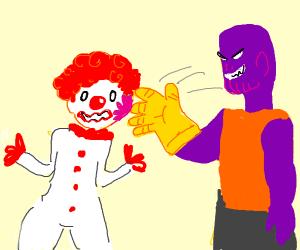 thanos snaps clown