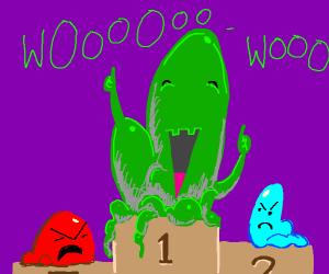 green blob gets first