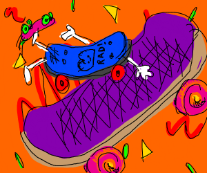 Mad rad skate board on skate board