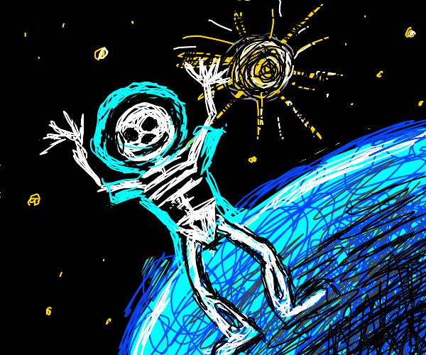 skeleton astronaut with great fashion sense