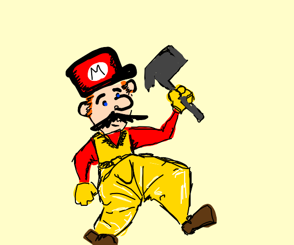 super mario in mc hammer pants