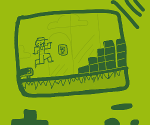 Mario in gameboy style