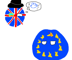 Britainball brexits the EuropeanUnionball