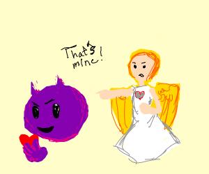 Emoji Devil Steals an Angel's Heart