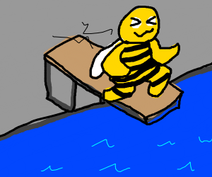 Bee on a trampoline