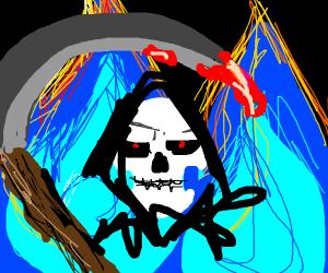 grim reaper (on fire)