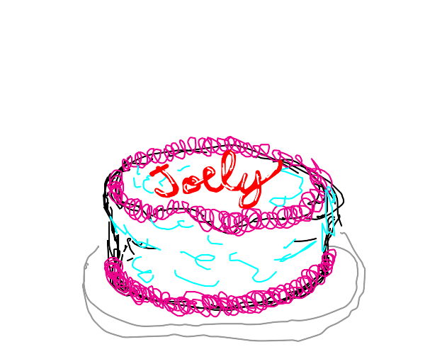 icing a cake with joely
