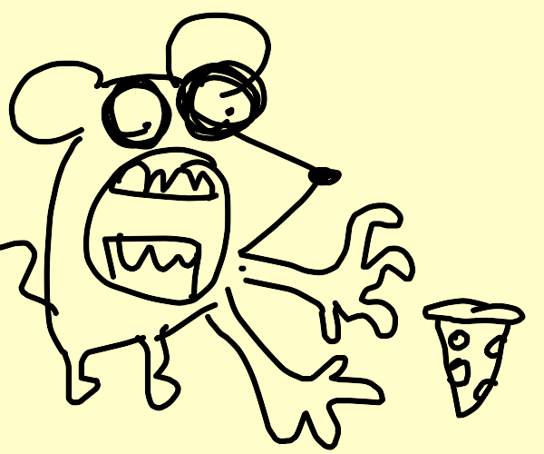 the mouse wants the pizza