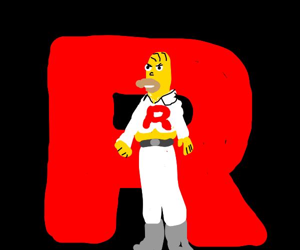 homer joins team rocket