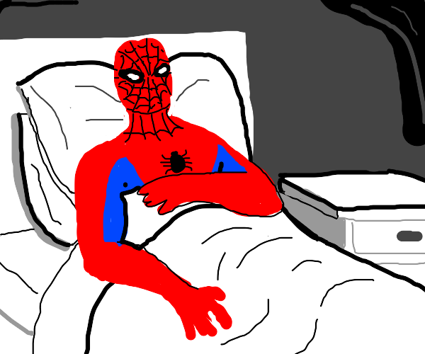 Spiderman is sick