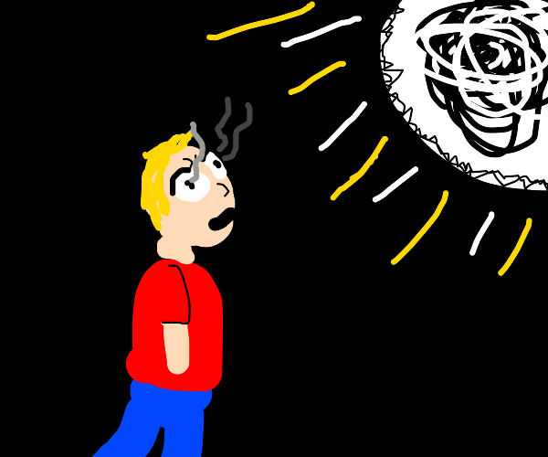 Man blinded by white light