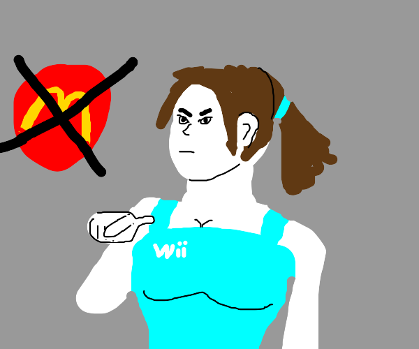 Wii Fit Trainer says no McDonald's