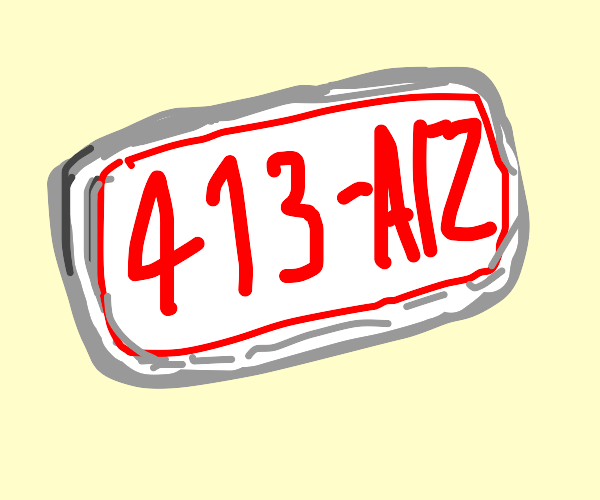 a plate number