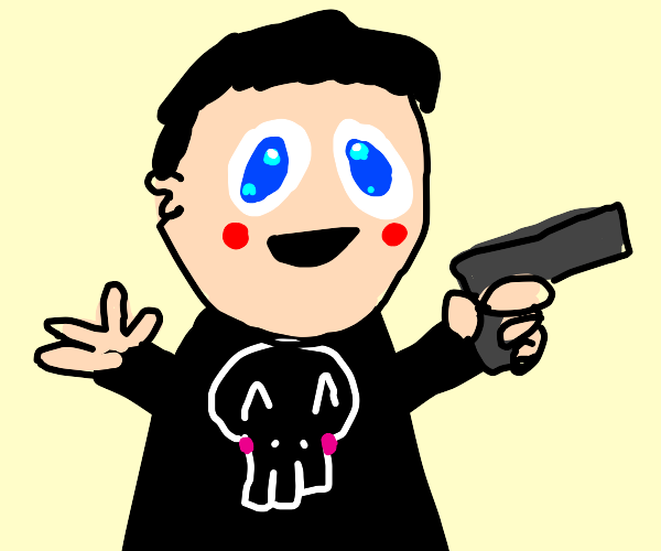 Punisher but if he was an Animeboy