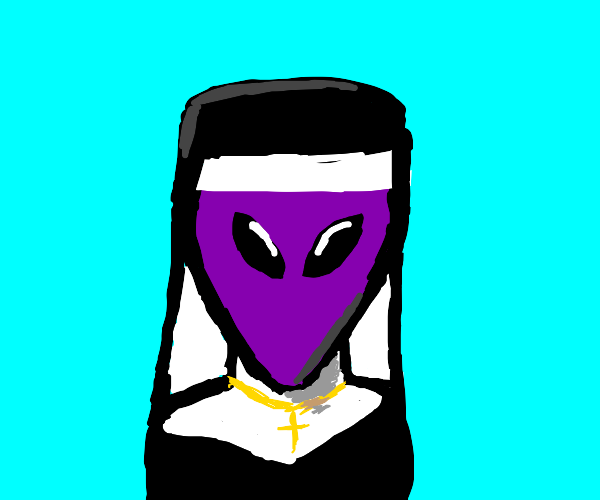 Purple Alien Nun