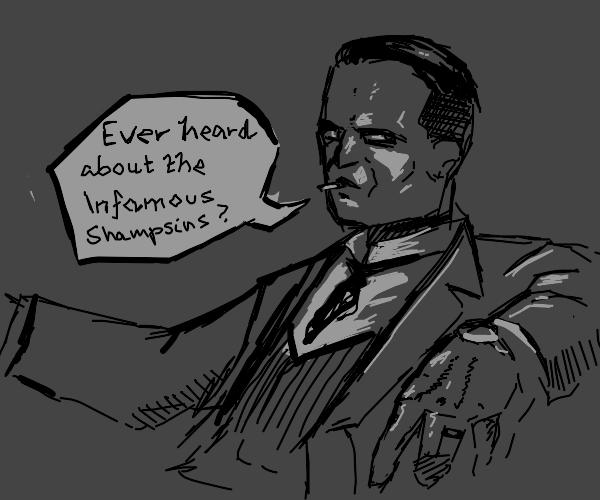 man discusses the infamous shampsins