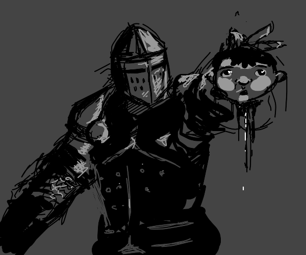 Medieval Knight decapitates Ice Age Baby