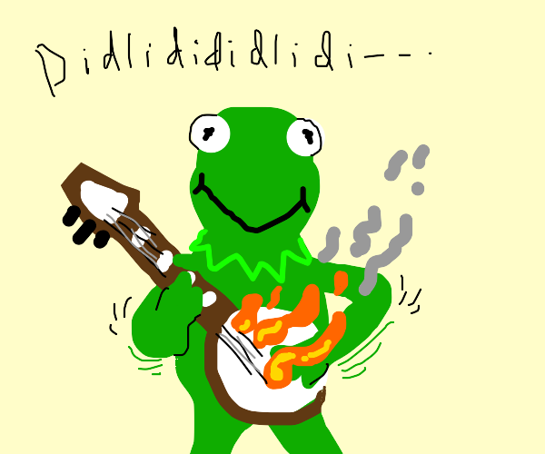 Kermit shredding on the banjo
