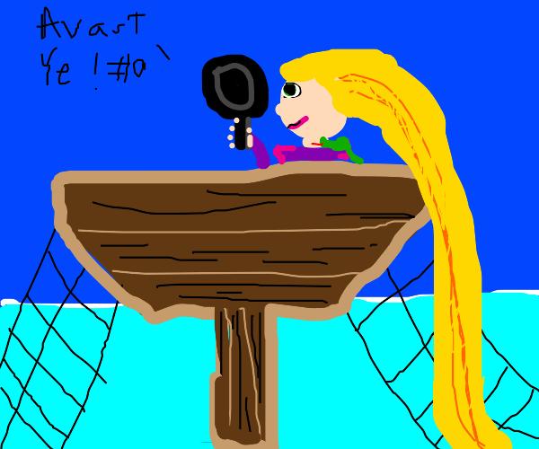 Rapunzel the vulgar pirate