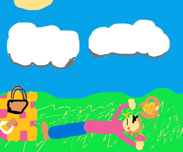 some dude dying while clouds watching